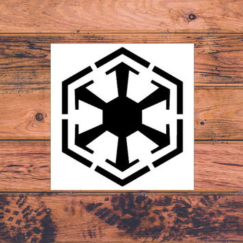 Star Wars Sith Inspired Decal | Star Wars Silhouette | Star Wars Trilogy Decal | Star Wars Logo | Nerdy Decal | Star Wars Nerd | Comic | 358