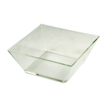 "Cardinal D6234 7"" Square Mix Up Glass Bowl"