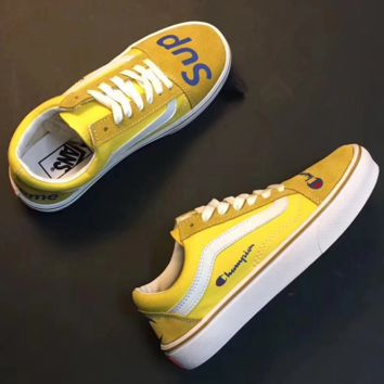 VANS x SUP  Print Old Skool Flats Sneakers Sport Shoes