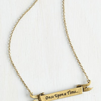 Fairytale, Scholastic Opening Line Necklace by ModCloth