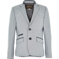 River Island Boys ice blue smart suit jacket