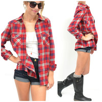 SZ LARGE Cabin Sleepover Red Flannel