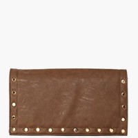 Rough Edges Clutch - Brown
