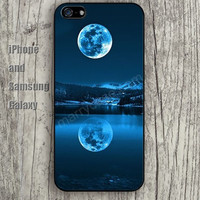 Reflection of the moon iphone 6 6 plus iPhone 5 5S 5C case Samsung S3,S4,S5 case Ipod Silicone plastic Phone cover Waterproof