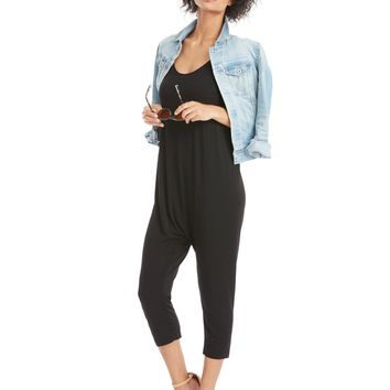 Enza Costa Strappy Drop Rise Jumpsuit