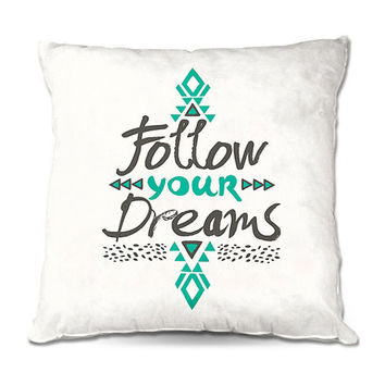 Follow Your Deams Typography Throw Pillow – 3 Sizes Available
