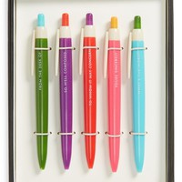 kate spade new york ballpoint pens (set of 5)