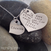 Personalized pet memory necklace, dog jewelry, pet memorial jewelry: If love could save you