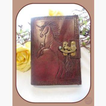 Unicorn Leather Latched Leather Journal