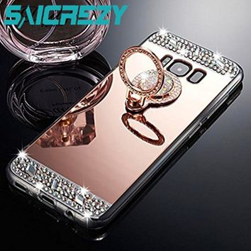 Shiny Mirror Case For Samsung Galaxy S8 note 8 9 case j7 neo j5 Prime j3 2016 a3 a5 a7 2017 S9 plus j4 j6 a6 a8 2018 Phone cover