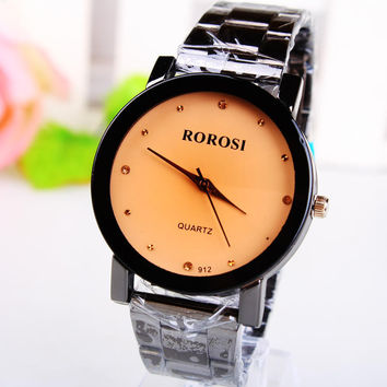 Stylish Simple Rhinestone Men Watch Quartz Watch [8863718471]