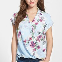 Women's KUT from the Kloth Floral Print Faux Wrap Top,