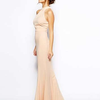 Jarlo Petite High Neck Maxi Dress