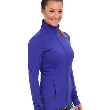 Under Armour UA Essential Studio Jacket Siberian Iris/Metallic Pewter - Zappos.com Free Shipping BOTH Ways