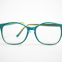 Vintage Hipster Oversized Blue Glasses by collectorsandcompany