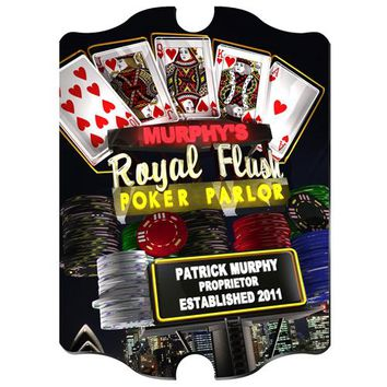 Marquee Vintage Sign - Nighttime Royal Flush