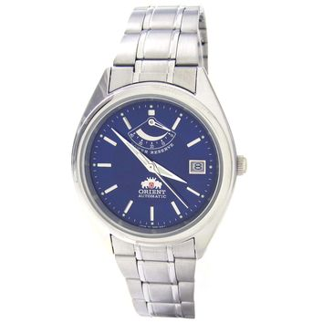 Orient CFD00001D Men's Blue Face Stainless Steel Automatic Watch with Power Reserve