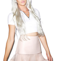 English Rose I'll Mesh With You Skirt Pink