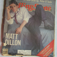 1982 Matt Dillon Rolling Stone Magazine Stephen King The Who Joni Mitchell