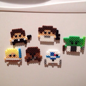 Star Wars Perler Magnets Set of 6 by K8BitHero on Etsy