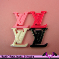 4 pcs Fashion Girly Letter Decoden Cabochon 22mm