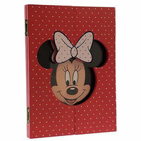 disney parks wood minnie mouse polka dot picture frame new