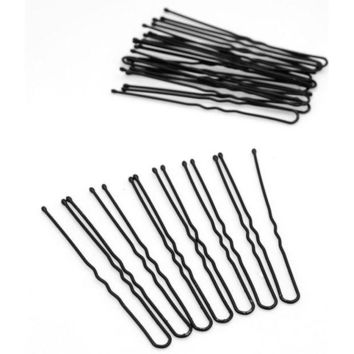 DCCKWJ7 20PCS Professional Black Metal Barrette Thin U Shape Hairpins Makeup Hair Bun Maker Hair Accessories Black Hair Clip Pins Tools