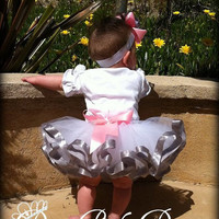 Ribbon Tutu in your choice of colors -Size newborn up to size 5/6