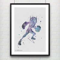 Hiro Hamada Disney Watercolor Print, Big Hero 6 Watercolor Poster, Kids Decor, Boy's Room Wall Art, Not Framed, Buy 2 Get 1 Free! [No. 31]