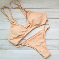 Sexy Neon Swimsuit bikini Set Top+Bottom