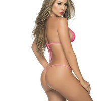 Mapalé Y Back Wet Look Thong