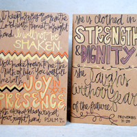 Hand-Written Scripture Journal: Set of 2.