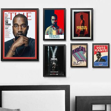 Kanye West The Life Of Pablo Rap Hip Hop Super Star Art Print Poster Silk Light Canvas Painting Wall Picture Home Decor