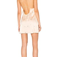 For Love & Lemons Twinkle Slip Dress in Blush