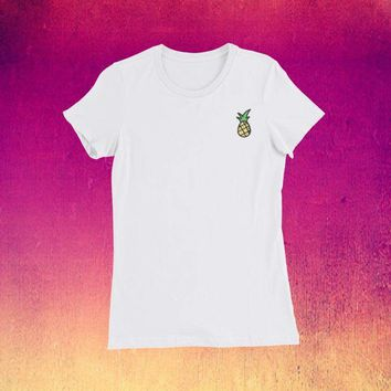 Pineapple Pocket Tee - Women's Slim Fit T-Shirt
