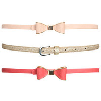 3 On Bow Skinny Belt | Shop Accessories at Wet Seal