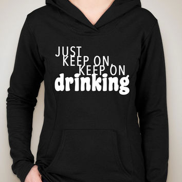 "Nick Jonas ""Champagne Problems - Just Keep On, Keep On Drinking"" Unisex Adult Hoodie Sweatshirt"