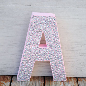 Sparkle Light Pink Bling Decorative Stand Up Wall Letters Wedding Shower