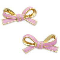 kate spade new york Earrings, 12k Gold-Plated Lilac Skinny Mini Bow Stud Earrings - Fashion Jewelry - Jewelry & Watches - Macy's