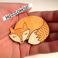 WOODLAND FOX brooch.