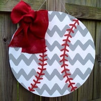 Baseball Wooden Door Hanger