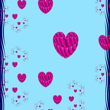 Sedona's Healing Energy Sacred and Cosmic Fractal Art Hearts and Lovers Valentine's Day Weddings