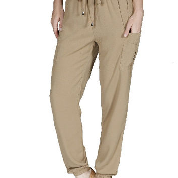 New Travel Slim Ankle Pant With Elastic Waistband