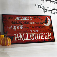 Witches Riding Wall Decor