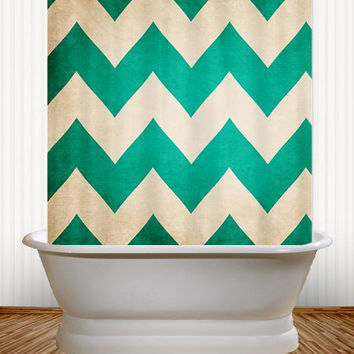 redux pantone emerald green chevron shower curtain classic classy bathroom