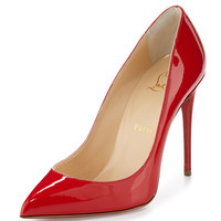 Christian Louboutin Pigalle Follies Patent 100mm Red Sole Pump, Red
