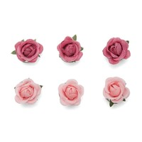 Mini Rose Spiral Hair Clips