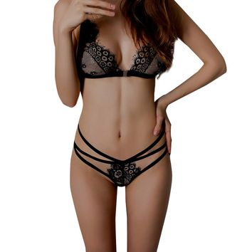 Ladies Sheer Lingerie Bra and Panty Set