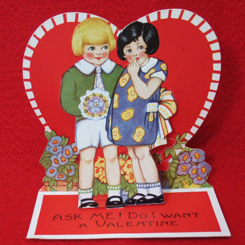 Antique Valentine Card Vintage Love Card Valentine Gift I love You