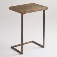 Metal Herringbone Laptop Table - World Market